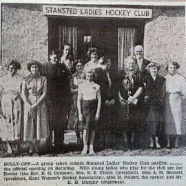 Stansted Hockey Club pavilion 1955
