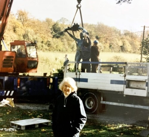 Faith Winter, Sculptress of the replacement statue. Image courtesy of Alan Parker.