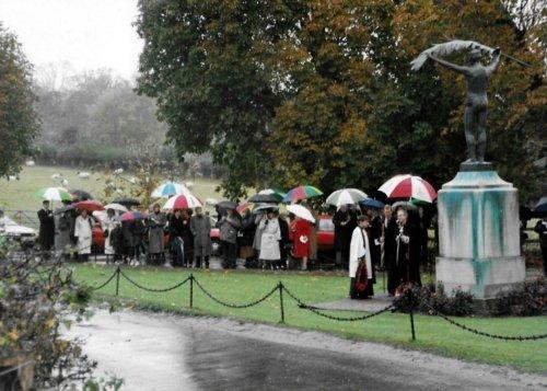 War Memorial dedication service on Sunday 10 November 1996