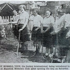 Stansted Hockey Club members at the 1952 fete.