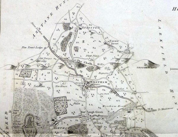 'Hundreds of Wrotham' map, 1797