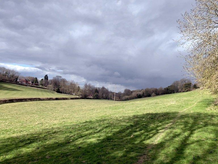 Clamberdene, looking north towards Stone Rocks, Plaxdale Green Road. Tithe Ref: Chambers Dene (245).