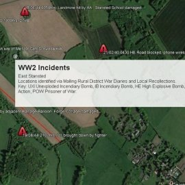 WW2 Incidents in the East Stansted area of Kent