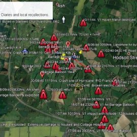 Overall WW2 incident map for the Stansted area.