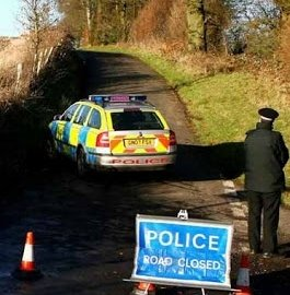 Police close roads in Stansted Kent