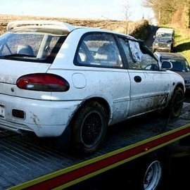 Victims car from the Stansted suicide by cop in 2007